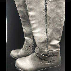 guess ashy grey moto boot size 8.5